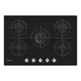 Plynová varná deska Candy CVG74WPB černá