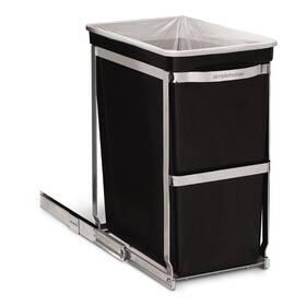 Odpadkový koš Simplehuman 30 l, vestavný (CW1124) černý