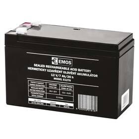 Olověný akumulátor EMOS bezúdržbový 12 V/7 Ah, faston 4,7 mm (B9691)