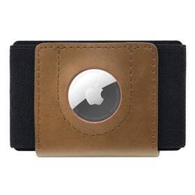 Peněženka FIXED Tiny Wallet pro AirTag z pravé hovězí kůže (FIXWAT-STN2-BRW) hnědá
