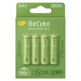 Baterie nabíjecí GP ReCyko, HR06, AA, 2600mAh, NiMH, krabička 4ks (B21274)