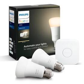 Startovací sada Philips Hue Bluetooth 9W, E27, White (2ks) + Bridge (8718696785218)