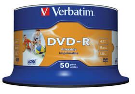 Disk Verbatim DVD-R 4.7GB, 16x, printable, 50cake (43533)