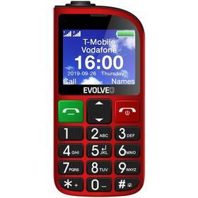 Mobilní telefon Evolveo EasyPhone FM - ZÁNOVNÍ - 12 měsíců záruka červený