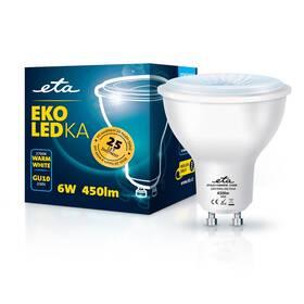 Žárovka LED ETA EKO LEDka bodová 6W, GU10, teplá bílá (GU10W6WW)