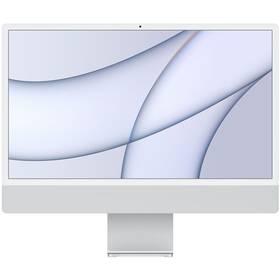 """Počítač All In One Apple iMac 24"""" M1 7x GPU, 8GB, 256GB, CZ - Silver (MGTF3CZ/A)"""
