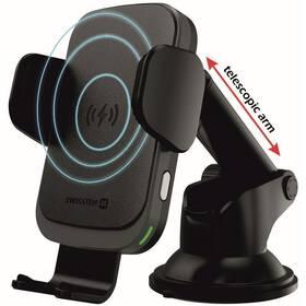 Držák na mobil Swissten S-GRIP W2-HK3 s bezdrátovým nabíjením (65010607) černý