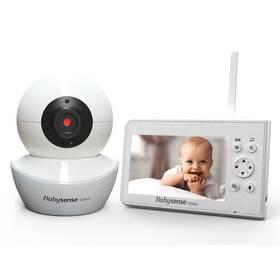 Dětská elektronická chůva Babysense Video Baby Monitor V43 bílá