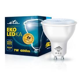 Žárovka LED ETA EKO LEDka bodová 7W, GU10, teplá bílá (GU10W7WW)