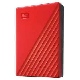 "Externí pevný disk 2,5"" Western Digital My Passport Portable 4TB, USB 3.0 (WDBPKJ0040BRD-WESN) červený"