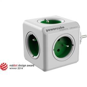 Rozbočovací zásuvka Powercube Original 5x zásuvka bílá/zelená