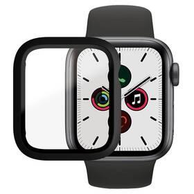 Tvrzené sklo PanzerGlass Full Protection na Apple Watch 4/5/6/SE 40mm s rámečkem (3640) černé