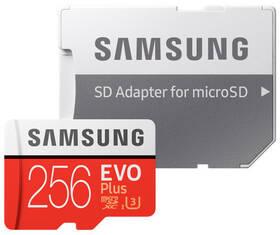 Paměťová karta Samsung Micro SDXC EVO+ 256GB Class 10 UHS-3 (R100/W90) + SD adaptér (MB-MC256HA/EU)
