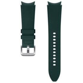 Řemínek Samsung Galaxy Watch4 Classic 46mm, hybridní kožený (20 mm, M/L) (ET-SHR89LGEGEU) zelený