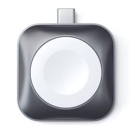 Nabíječka Satechi USB-C Magnetic Charging Dock pro Apple Watch (ST-TCMCAWM) šedá