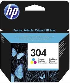 Inkoustová náplň HP 304, 100 stran - CMY (N9K05AE)