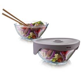 Miska Tomorrow's Kitchen Single Serve Steamer Grey šedý/sklo