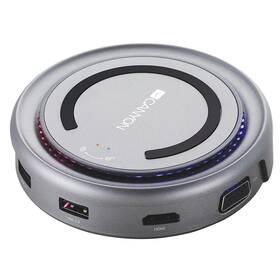 Dokovací stanice Canyon USB/USB-C/HDMI/VGA/USB-C PD 100W (CNS-TDS07DG) šedá