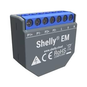 Modul Shelly EM, měření spotřeby až 2x 120 A, 1 výstup (SHELLY-EM)