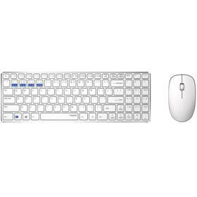 Klávesnice s myší Rapoo 9300M, CZ/SK layout bílá