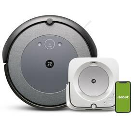 Robotický vysavač iRobot Roomba i3 Neutral/Braava Jet M6 šedý/bílý