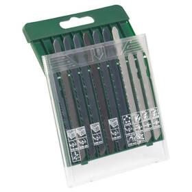 Sada pilových plátků Bosch 10dílná kazeta pilových plátků na dřevo/kov/plast (T-stopka)