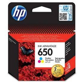 Inkoustová náplň HP No. 650, 200 stran - originální CMY (CZ102AE)