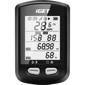 Cyklopočítač s GPS iGET C200 černý