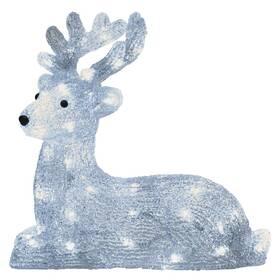 LED dekorace EMOS 40 LED vánoční jelínek, 27 cm, venkovní i vnitřní, studená bílá, časovač (DCFC06)
