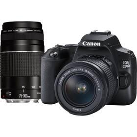 Digitální fotoaparát Canon EOS 250D + 18-55 DC + 75-300 DC (3454C016) černý