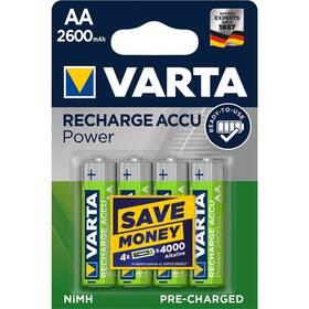 Baterie nabíjecí Varta Power, HR06, AA, 2600mAh, Ni-MH, blistr 4ks (5716101404)