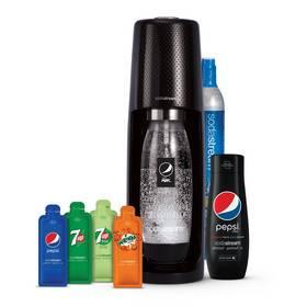 Výrobník sodové vody SodaStream Spirit Black Pepsi MegaPack