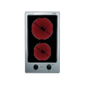 Elektrická varná deska Whirlpool DOMINO AKT 315 IX černá/nerez/sklo