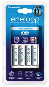 Nabíječka Panasonic Eneloop Basic Charger pro AA, AAA + 4x Panasonic Eneloop 1900mAh (K-KJ51MCC40E ) bílá