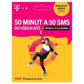 SIM karta T-Mobile Twist 50 minut a 50 SMS do všech sítí (700 636)