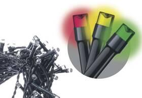 Vánoční osvětlení EMOS 240 LED, 24m, řetěz, vícebarevná, časovač, i venkovní použití (1534081055)