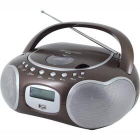 Radiopřijímač s DAB+ Soundmaster SCD4200BR stříbrný/hnědý