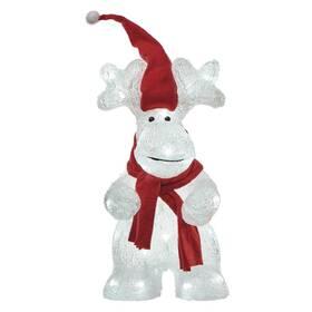 LED dekorace EMOS 40 LED vánoční sob, 34,5 cm, venkovní i vnitřní, studená bílá, časovač (DCFC08)