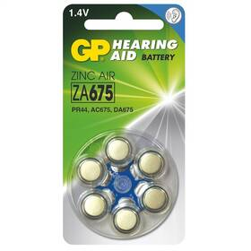 Baterie do naslouchadel GP ZA675, blistr 6ks (B3575)