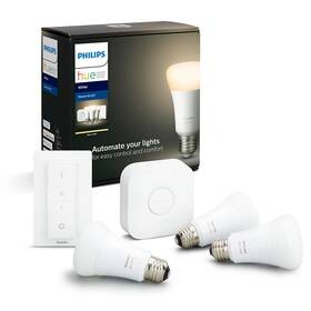 Startovací sada Philips Hue Bluetooth 9W, E27, White (3ks) + Switch, Bridge (8718696785232)