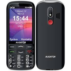 Mobilní telefon Aligator A830 Senior + stojánek (A830B) černý