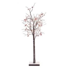 LED dekorace EMOS 48 LED svítící stromek s bobulemi, 120 cm, venkovní i vnitřní, teplá bílá, časovač (DCTW14)