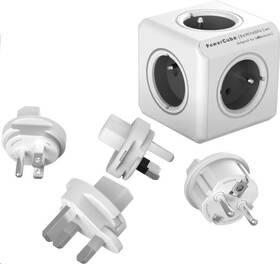 Cestovní adaptér Powercube Rewirable + Travel Plugs - šedý (456307) šedý