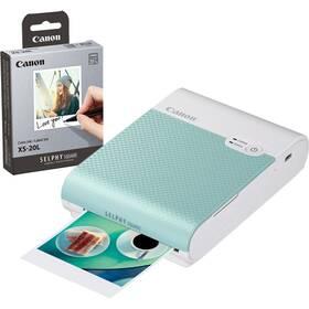 Fototiskárna Canon Selphy Square QX10 + papíry 20 ks zelená