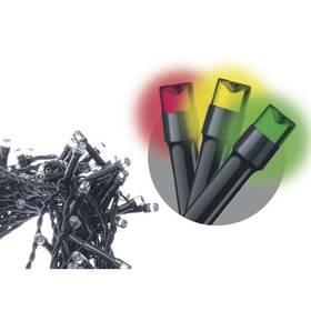 Vánoční osvětlení EMOS 80 LED, 8m, řetěz, vícebarevná, časovač,  i venkovní použití (1534081025)