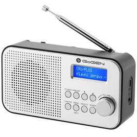 Radiopřijímač s DAB+ GoGEN DAB 300 N stříbrný