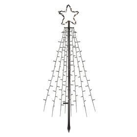 LED dekorace EMOS 180 LED vánoční strom kovový, 180 cm, venkovní i vnitřní, studená bílá, časovač (DCTC02)