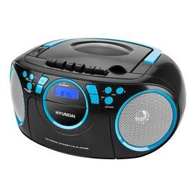 Radiomagnetofon s CD Hyundai TRC 788 AUBBL černý/modrý
