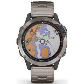 GPS hodinky Garmin Quatix6 PRO Saphire - Titanium/Titanium (010-02158-95)