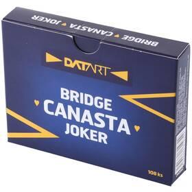 Hrací karty WIKI Canasta s logem Datart